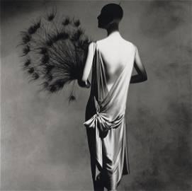 IRVING PENN - Vionnet Dress with 1925 Fan, NY, 1974