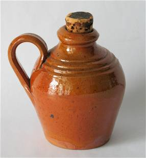 Early Miniature Pennsylvania Redware Belly Jug
