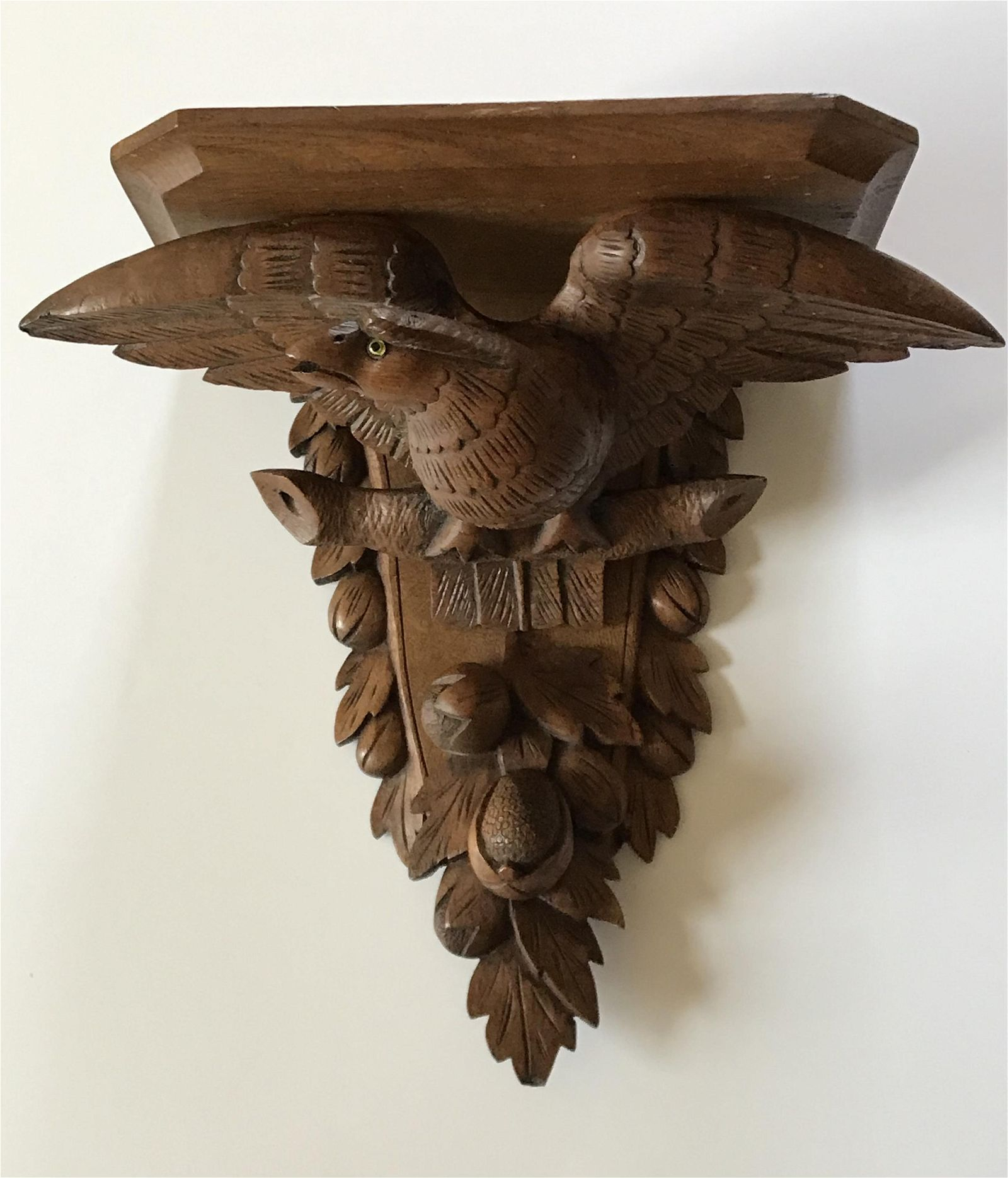 Wooden Shelf with Eagle