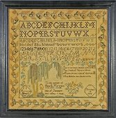 Antique Sampler by S. S. HAYWARD aged 8 dated 1832