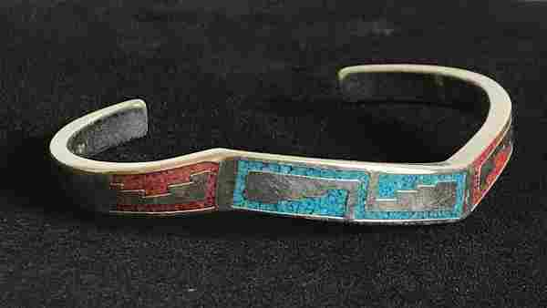 Sterling Silver Native American Turquoise and Coral