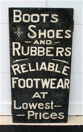 Early New England Footwear Trade Sign