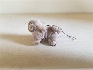Tiny Velvet Dog C. 1940s