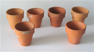 Group Of Vintage Miniature Red Clay Flower Pots