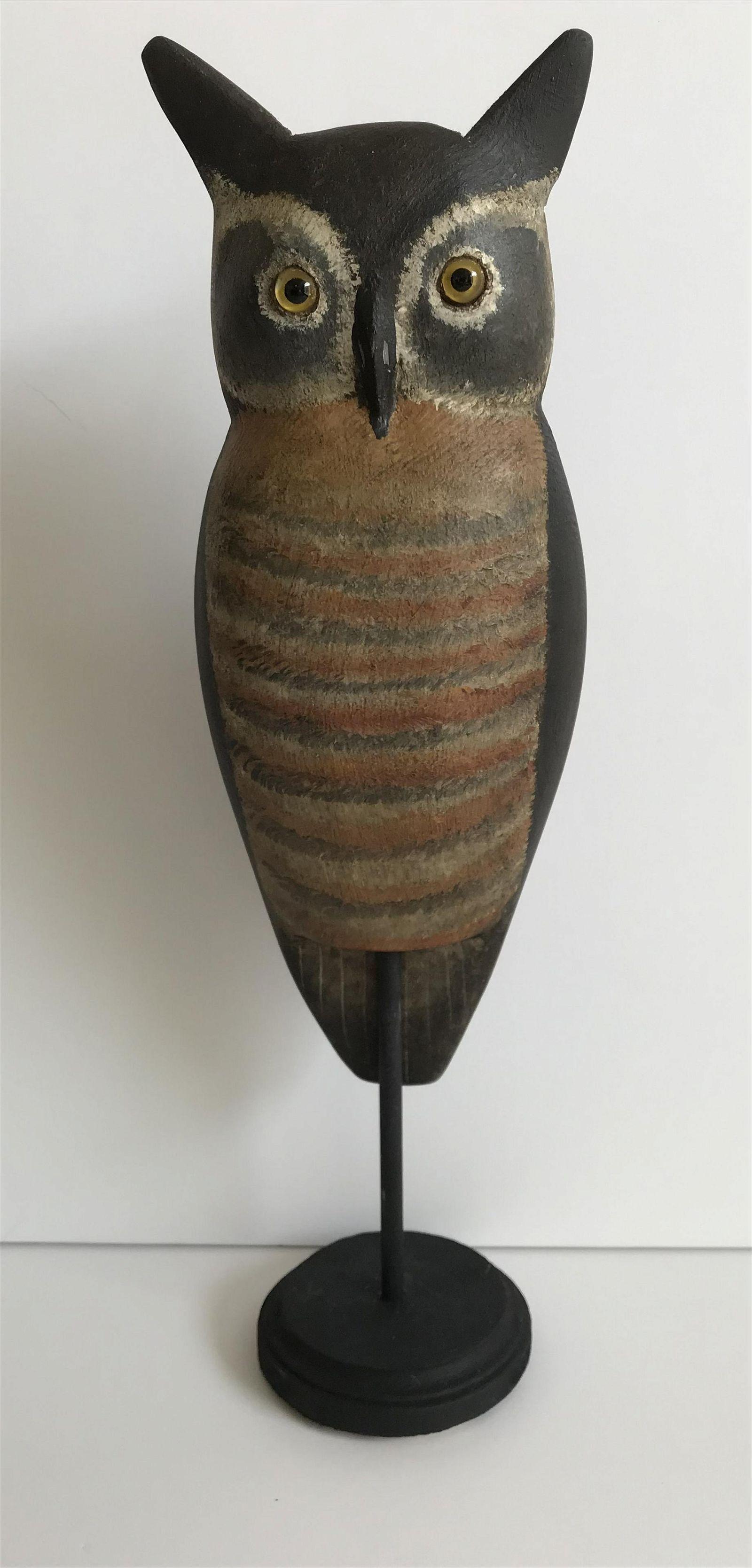 Folk Art Owl Carving