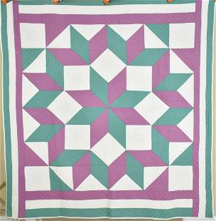 Well Quilted 30's Broken Star Quilt