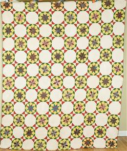 Well Quilted 1870's Stars Quilt