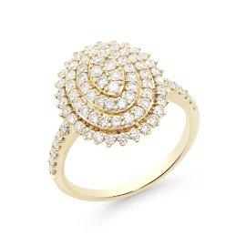 1.15 CTS CERTIFIED DIAMONDS 14K YELLOW GOLD DESIGNER