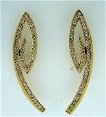 THIERRY VENDOME PARIS 18K YELLOW GOLD DIAMOND EARRINGS
