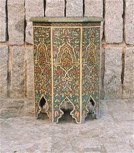 Moroccan Hand made and painted Side Table
