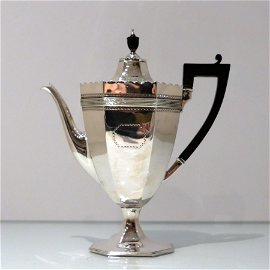 19th Century Antique Victorian Sterling Silver Coffee