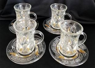 Channel Demitasse Espresso Cup With Saucer - Lot of 4