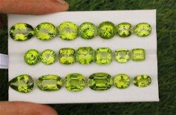 Natural & Unheated Green Peridot Gemstone Lot