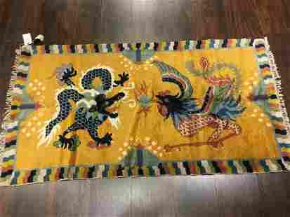 Vintage Tibetan Rug 2'8'' X 4'11''