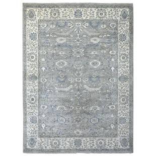 Gray Afghan Peshawar with Ziegler Mahal Design Wool
