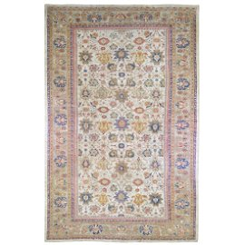 Antique Persian Sultanabad Good Condition, Ivory, XL