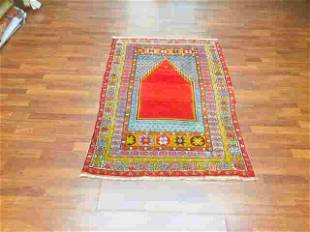 Antique Turkish Prayer mujar rug-1842