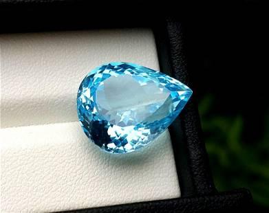 Topaz, 23.55 Carats Very Beautiful Natural Blue Swiss