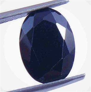 Natural Midnight Blue Sapphire Oval Untreated