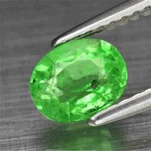 1.12 ct oval natural green tzavorite garnet Tanzania