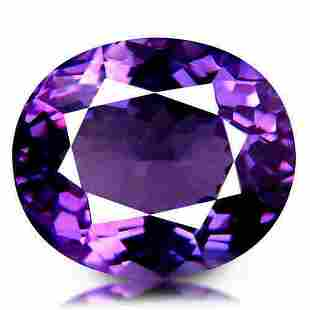 Natural Amethyst AAA 1.66ct Oval Rich Purple/Violet