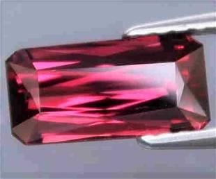 Rhodolite Natural Octagon Hot Pink Purple Unheated
