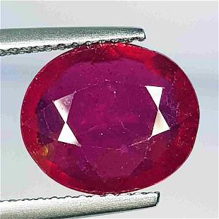 Natural Ruby Oval Cut 5.21 ct