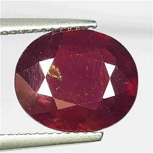 Natural Ruby Oval Cut 7.62 ct