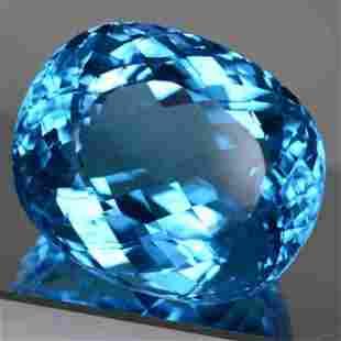 118.98 cts Natural Cushion Blue Topaz