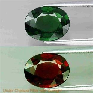 2,32 ct Rare! Natural Green Chrome Tourmaline 2,32 ct