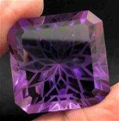 80 Carats Top Purple Amethyst Fancy Flower Cut