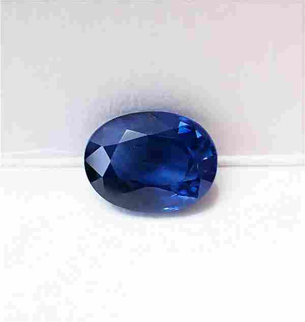 Blue Sapphire Certified - 1.64 ct
