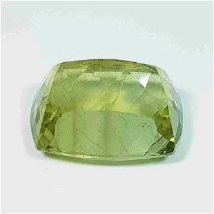 22.42 ct Natural Yellowish Green Aquamarine