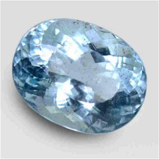 17.65 Cts GIA Certified Dazzling Oval Aquamarine