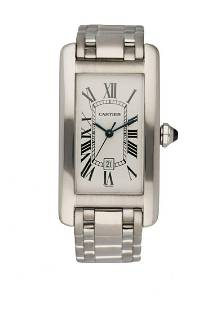 Cartier Tank Americaine 1726 18K White Gold Automatic