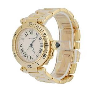 Cartier Pasha 1035.1 18K Yellow Gold Men's Watch