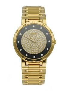 Piaget Dancer 84023 K81 Onyx Diamond Dial 18K Yellow