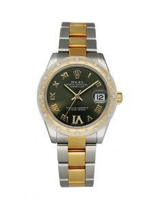 Rolex Datejust 178343 18K Yellow Gold Bezel W/Diamonds