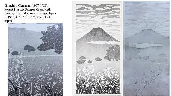 Gihachiro Okuyama (1907-1981): Mount Fuji and Pampas