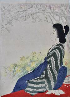 Keishu: Beauty Sitting in a Hazy Garden