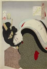Tsukioka YOSHITOSHI (1839-92): Looking hot: The
