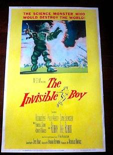 """The Invisible Boy (1957) 40"""" x 60"""" US Movie Poster PB"""