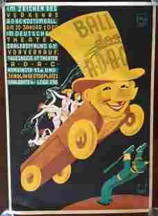 Ball Des Adac (1920) 33? x 47.5? German Motor Club