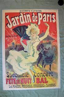 """Jardin De Paris - Art by Cheret (1890) 34.75"""" x 49"""""""