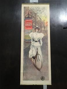 "Cycles Rochet - Art by Charles Tichon (1900's) 9.25"" x"
