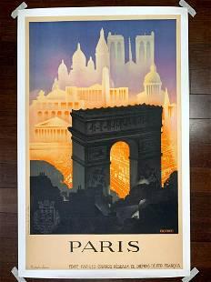 Paris Arc de Triumph - Art by Robert Falcucci (1930)