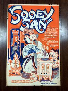 Sooey San (1925) US One Sheet Theater Advertising