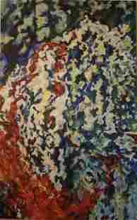 "Roya Mansourkhani, Untitled, 80""x 50"" Oil Painting"