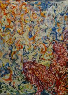 """No Shame, 7'6"""" x 4'9"""", oil painting"""