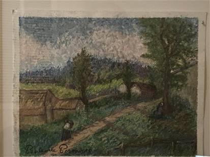 Certified Authentique Paul Emile Pissarro Pastel